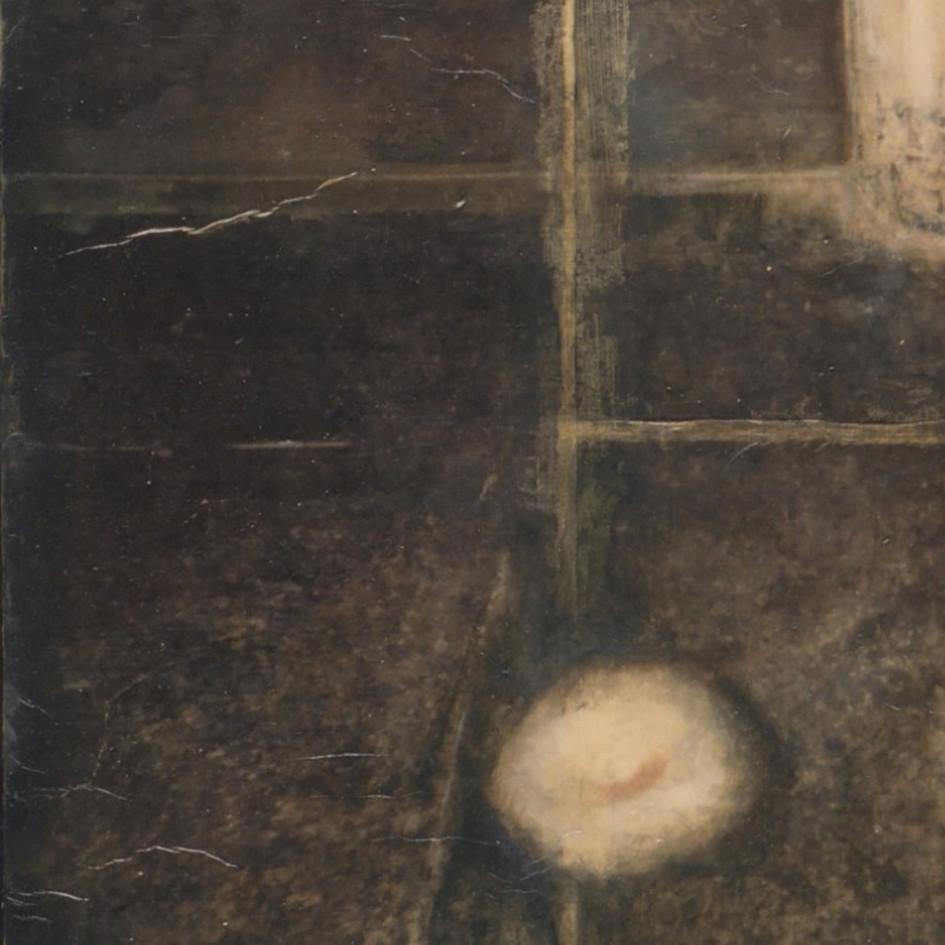 Senza titolo, 2000/2001, tecnica mista su carta su tela, cm 80 x 100