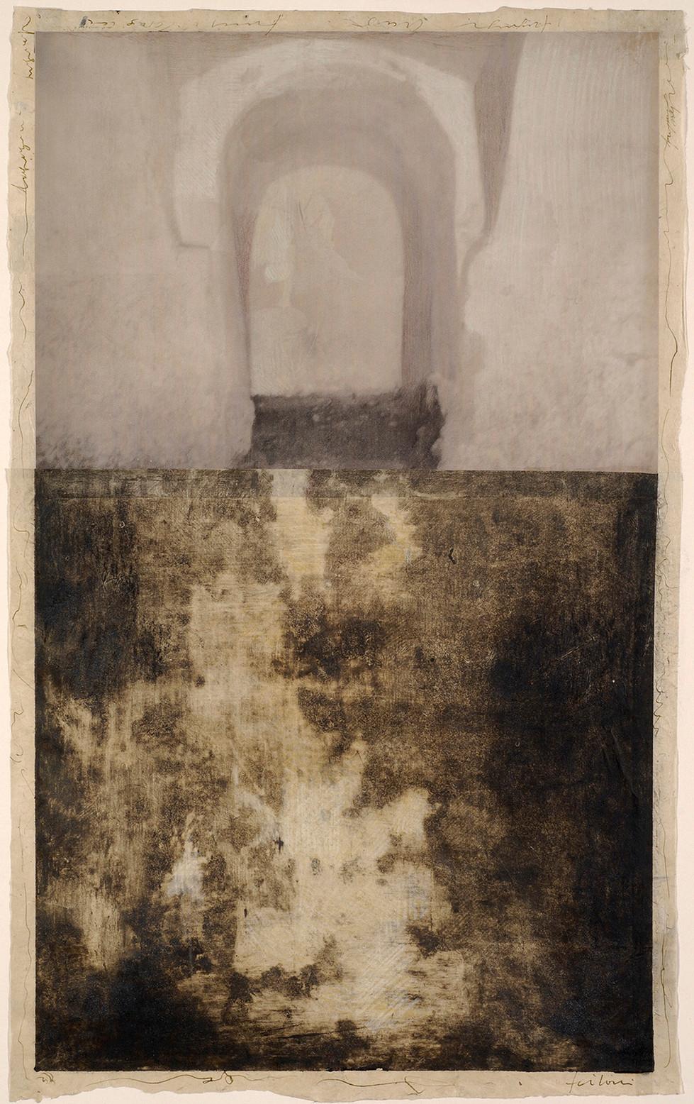 Senza titolo, 2006, tecnica mista su carta, cm 68 x 42