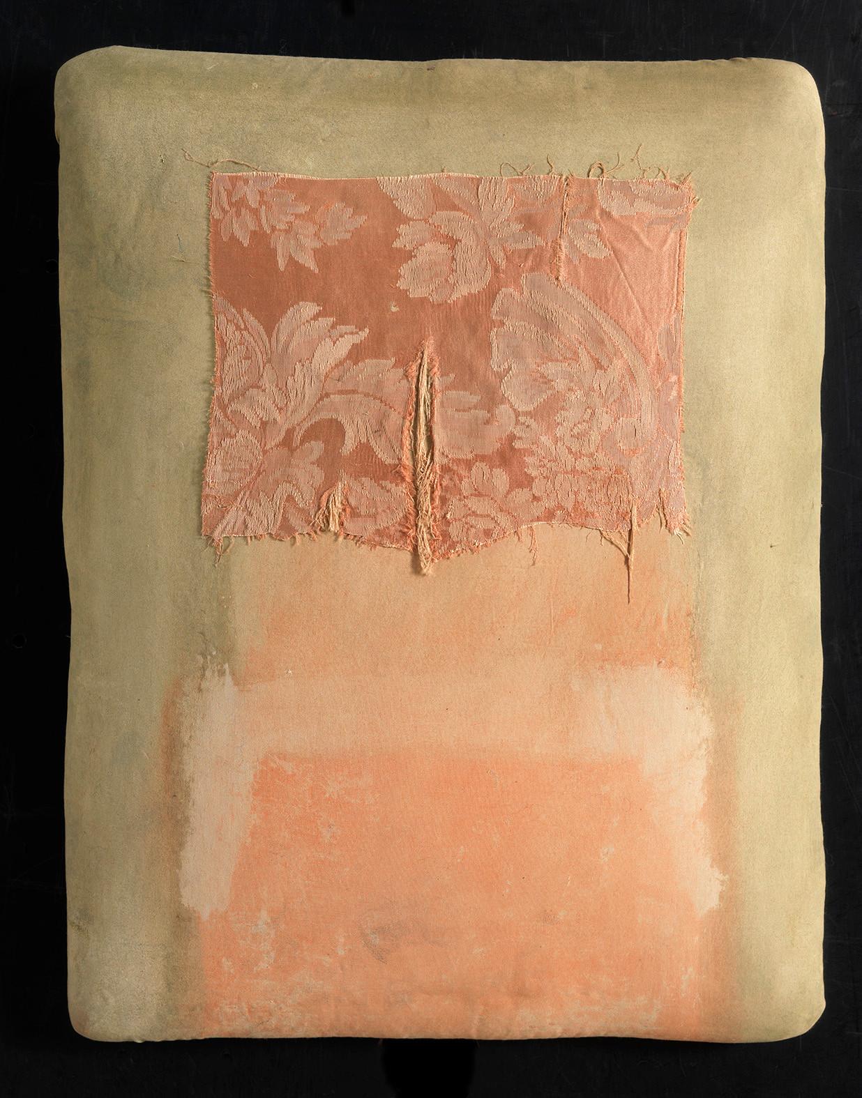 Senza titolo, 2014, stoffa olio su carta su tela, cm 47 x 36,4