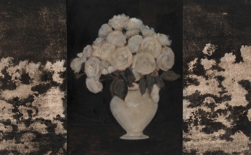 Senza titolo, 2011, calcografia pastello olio, cm 38,5 x 62