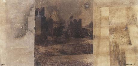 Senza titolo, 2001, tecnica mista su carta, cm 16 x 33,5
