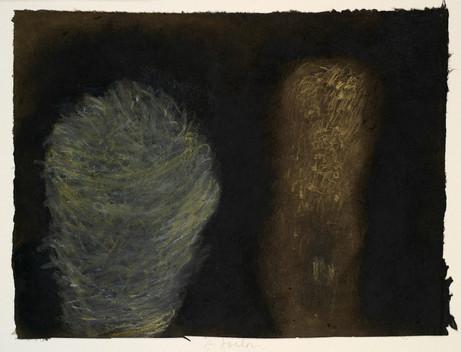 Senza titolo, 2000, tecnica mista su carta, cm 24 x 33