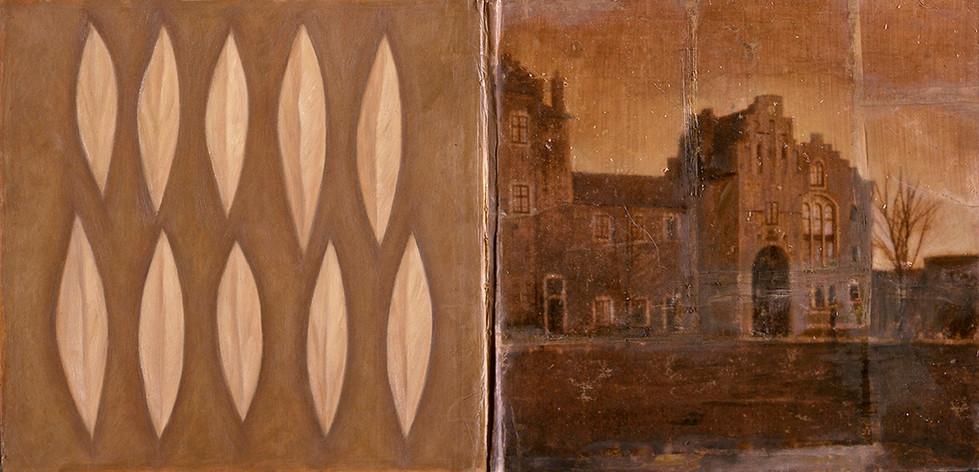 Senza titolo, 2001, tecnica mista su carta, cm 100 x 49