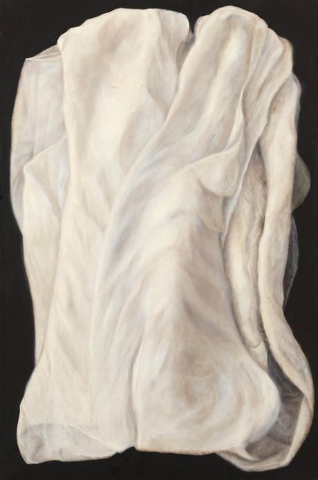Senza titolo, 2008/2009, olio su carta su tela, cm 150 x 100