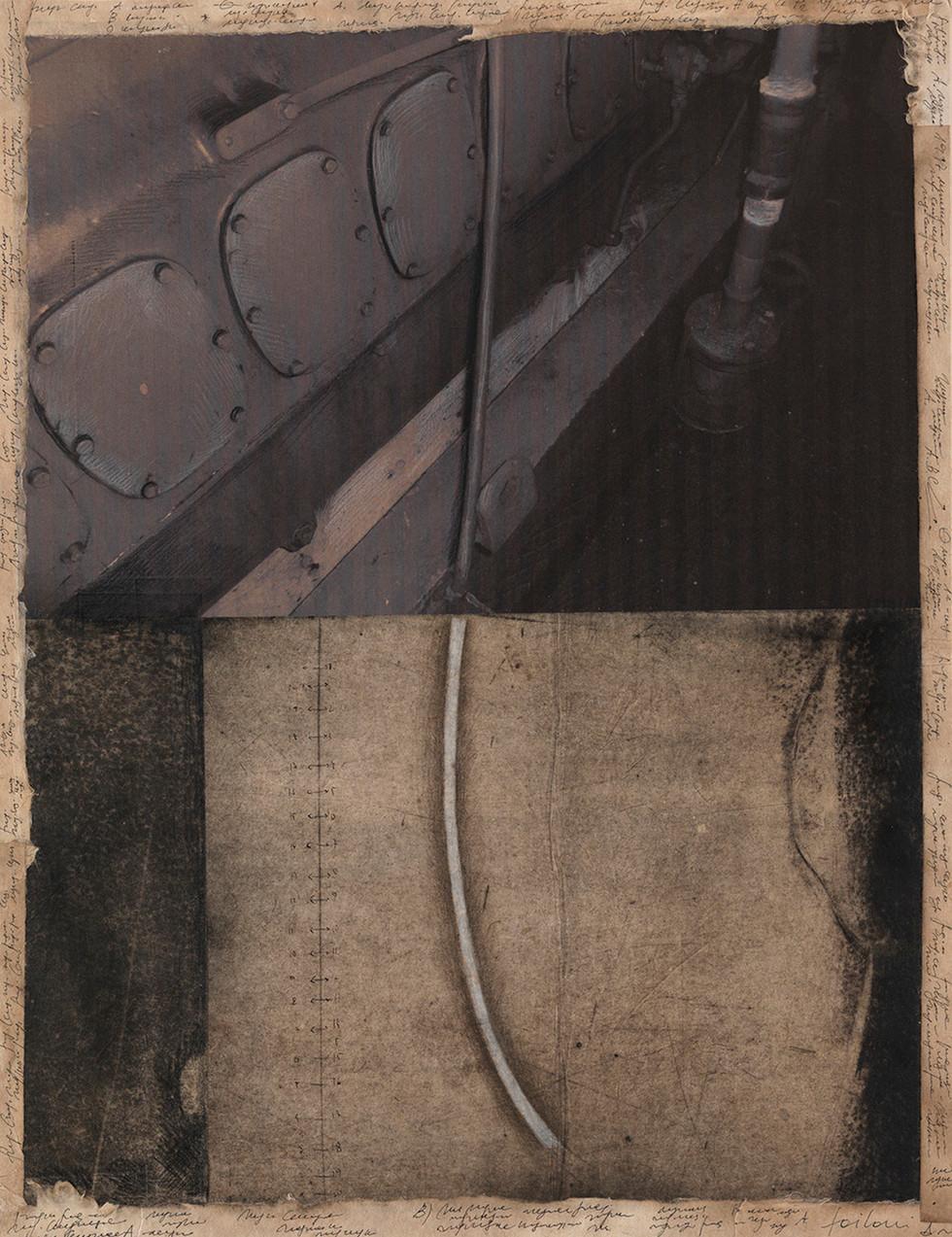 Ursus, 2009, tecnica mista su carta, cm 56 x 42