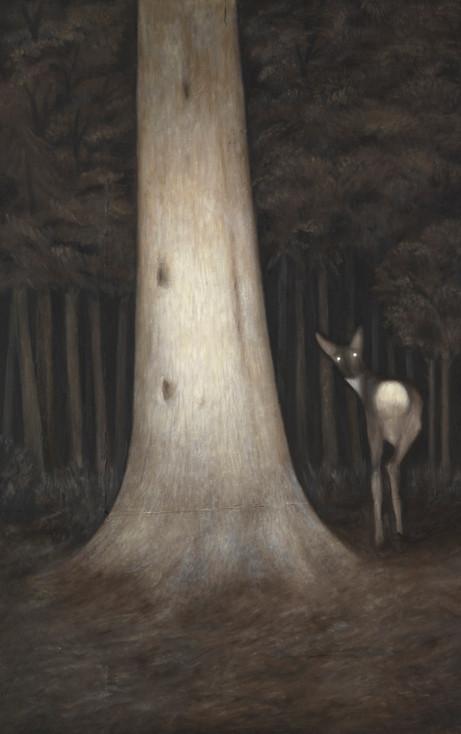 Senza titolo, 2011 olio su carta su tela, cm 150 x 95