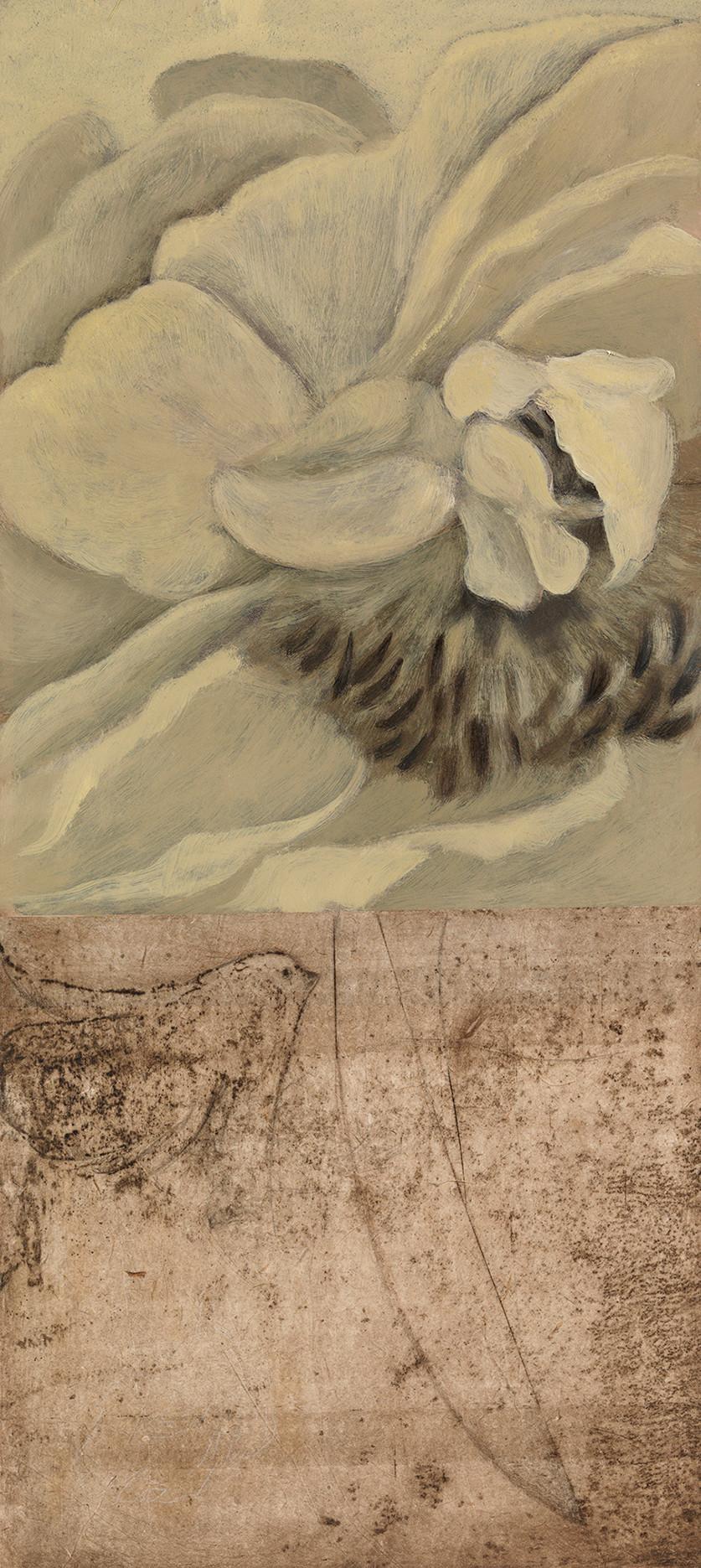 Senza titolo, 2011, olio pastello calcografia, cm 66 x 30