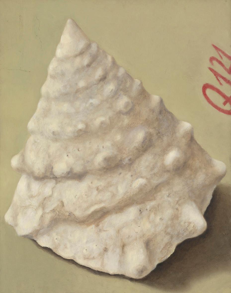 Senza titolo, 2014, olio su carta su tela, cm 100 x 80