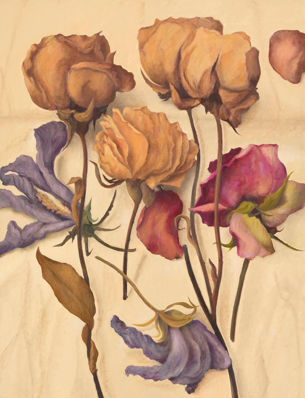 Senza titolo, 2017, olio su carta su tela, cm 130 x 100
