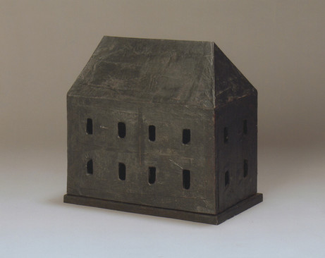 Senza titolo, 2002, cartone metallo, cm 35 x 34 x 17,5