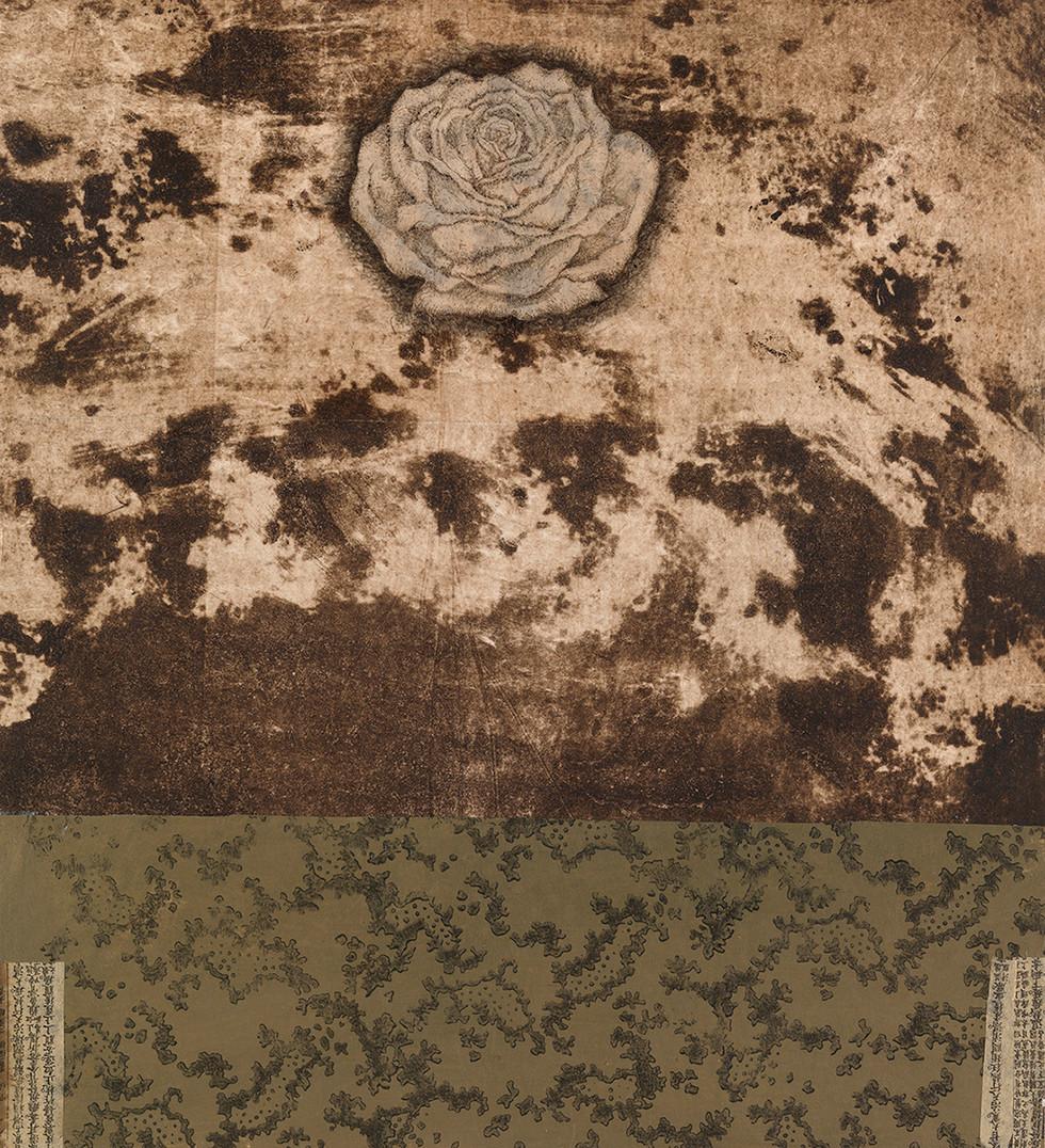 Senza titolo, 2011, calcografia collage pastello, cm 42 x 39