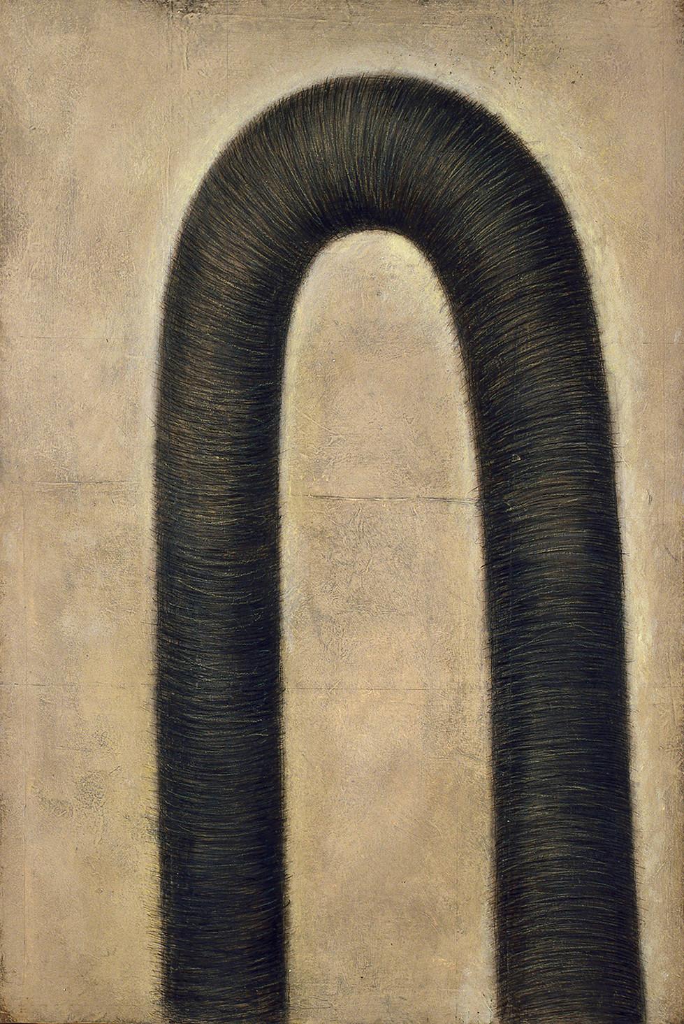 Senza titolo, 2001, pastello su carta su tela, cm 150 x 100