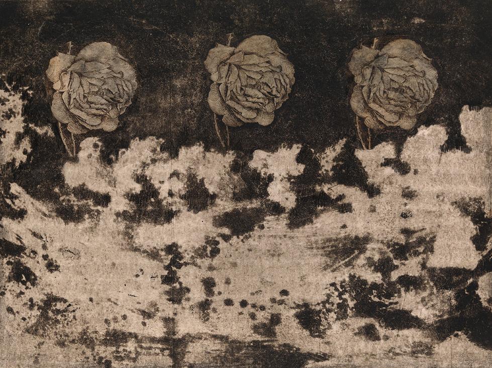 Senza titolo, 2011, calcografia e collage, cm 34,5 x 45,5