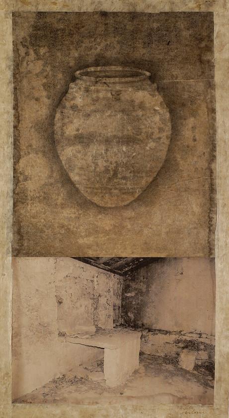 Senza titolo, 2006, tecnica mista su carta, cm 80 x 44
