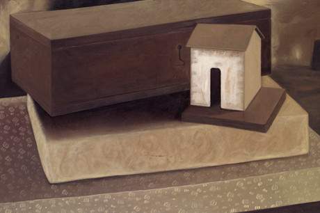 Senza titolo, 2004, olio su carta su tela, cm 100 x 150