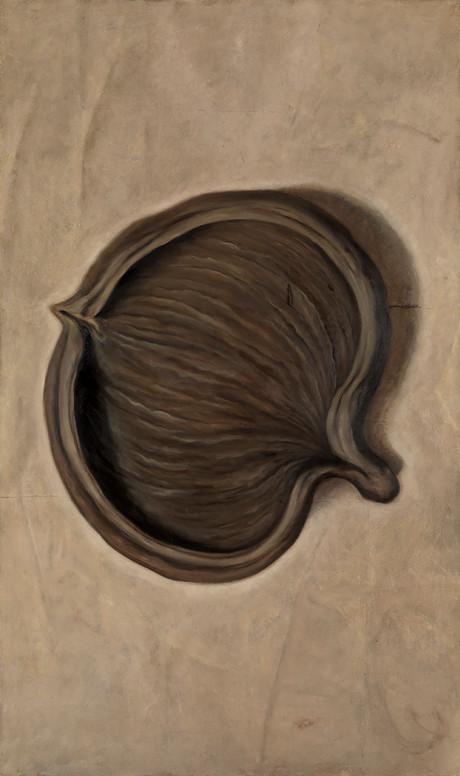 Senza titolo, 2007/2008, olio su carta su tela, cm 200 x 120