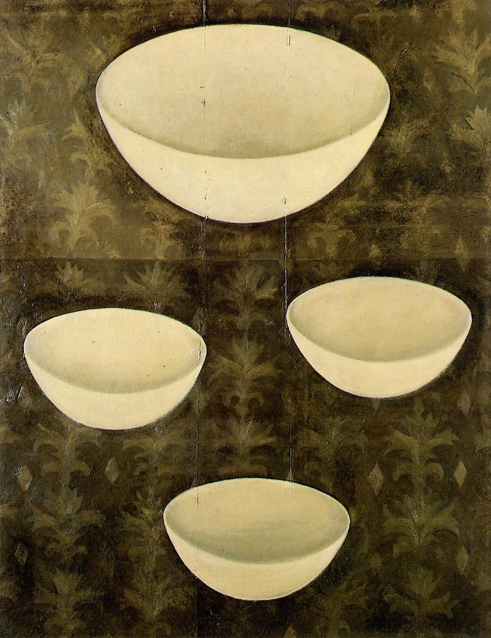 Senza titolo, 1998, olio su carta su tela, cm 120 x 150