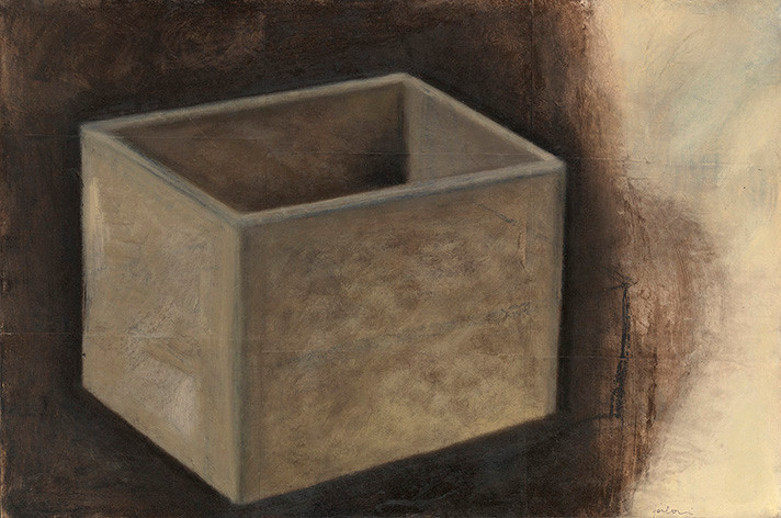 Senza titolo, 2003, olio e pastello su carta su tela, cm 40 x 60