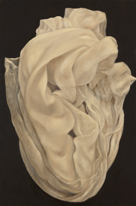 Senza titolo, 2009, olio su carta su tela, cm 120 x 180