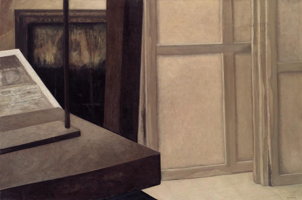 Senza titolo, 2004 olio su carta su tela, cm 100 x 150