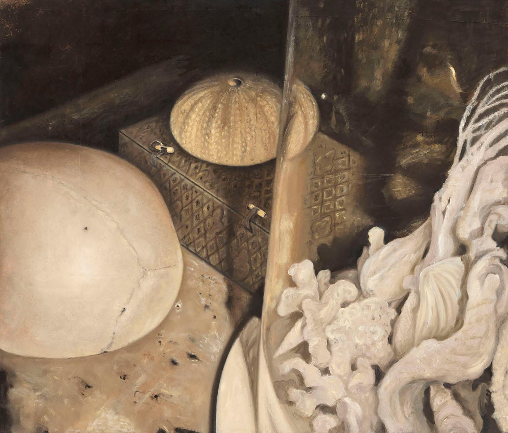 Senza titolo, 2007, olio su carta su tela, cm 120 x 140