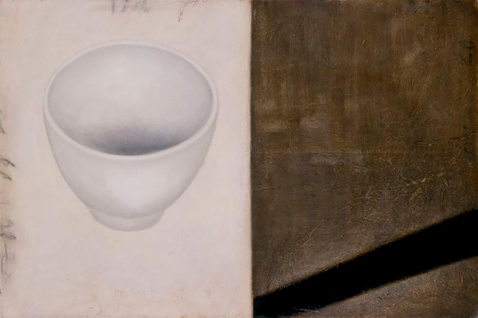 Senza titolo, 2002, olio su carta su tela, cm 80 x 120
