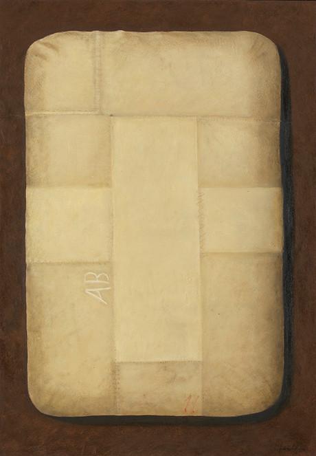 Senza titolo, 2016, olio su carta su tela, cm 80 x 60