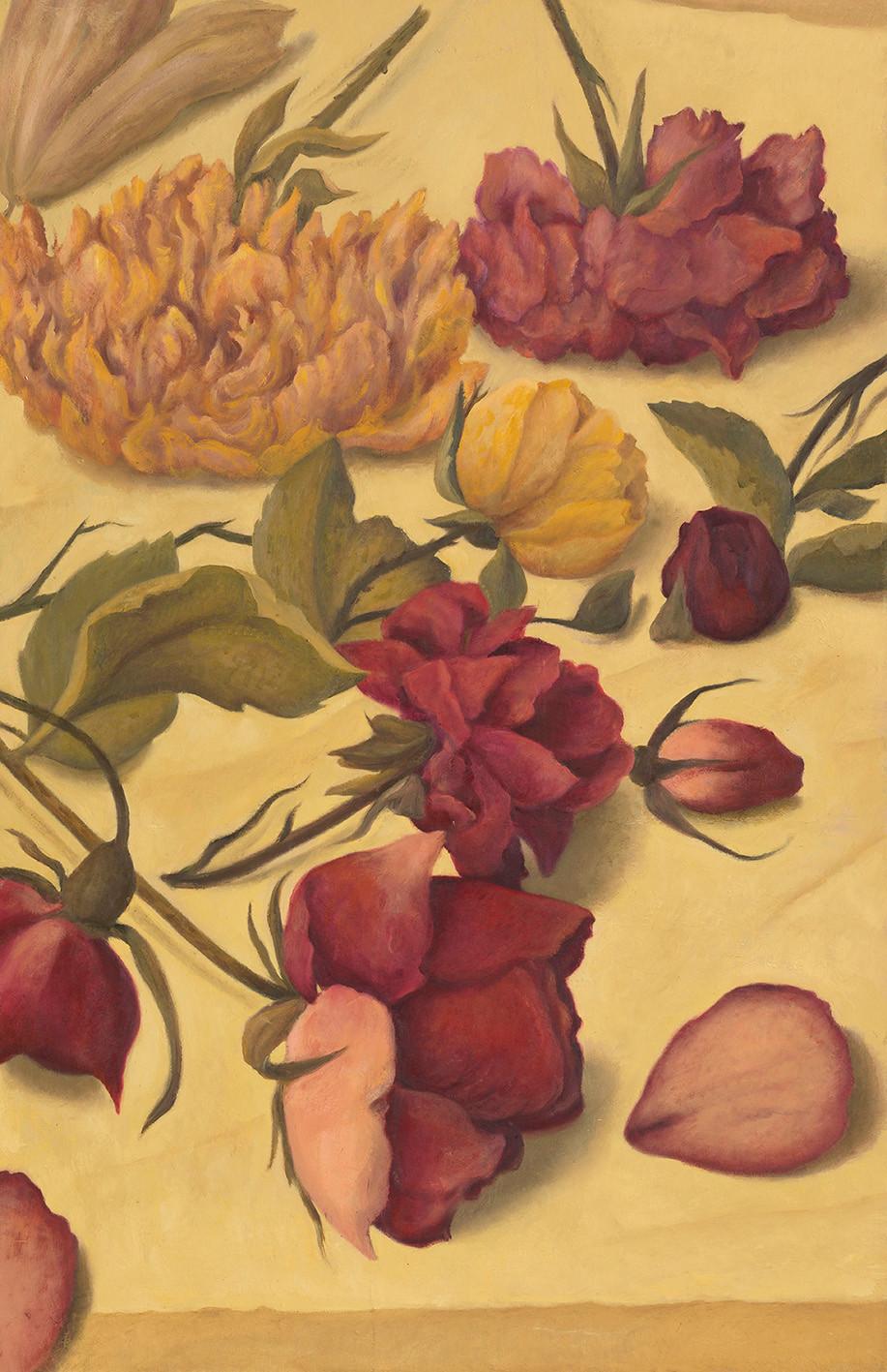 Senza titolo, 2020, olio su carta su tavola, cm 117 x 75