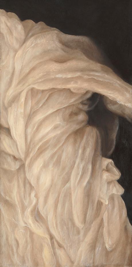 Senza titolo, 2009, olio su carta su tela, cm 100 x 50
