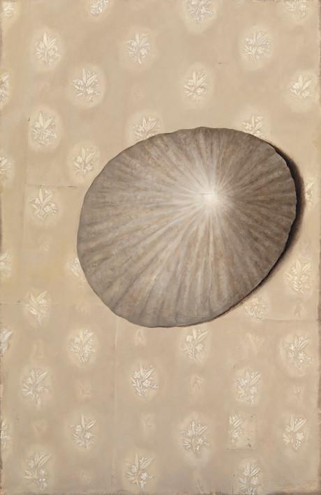 Senza titolo, 2007/2008, olio su carta su tela, cm 200 x 130