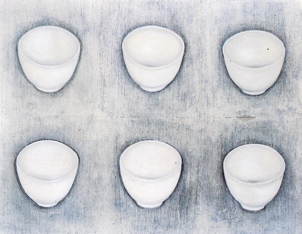 Senza titolo, 1998, olio su carta su tela, cm 150 x 120