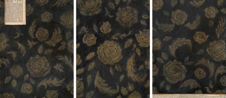 Senza titolo, 2004, olio su carta su tela e collage, cm 60 x 45 ognuno