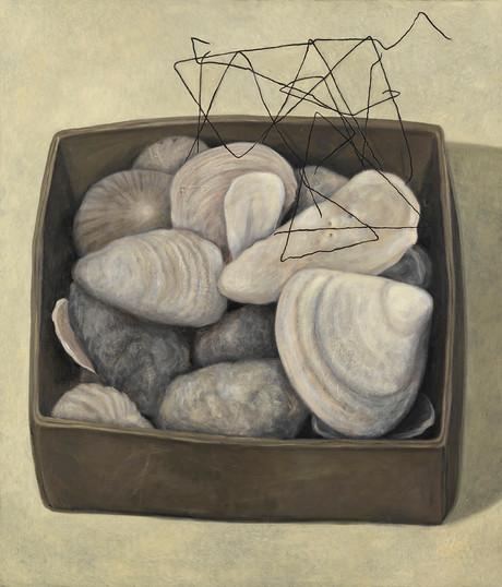 Senza titolo, 2007, olio su carta su tela, cm 140 x 120
