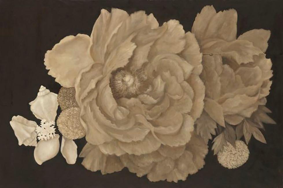 Senza titolo, 2010, olio su carta su tela, cm 100 x 150