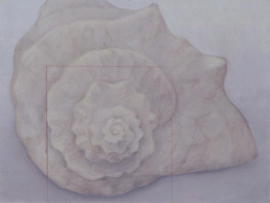 Senza titolo, 2003, olio su carta su tela, cm 60 x 80
