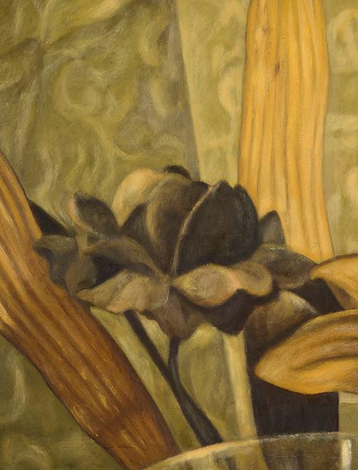 Senza titolo, 2014, olio su carta, cm 56 x 42,5