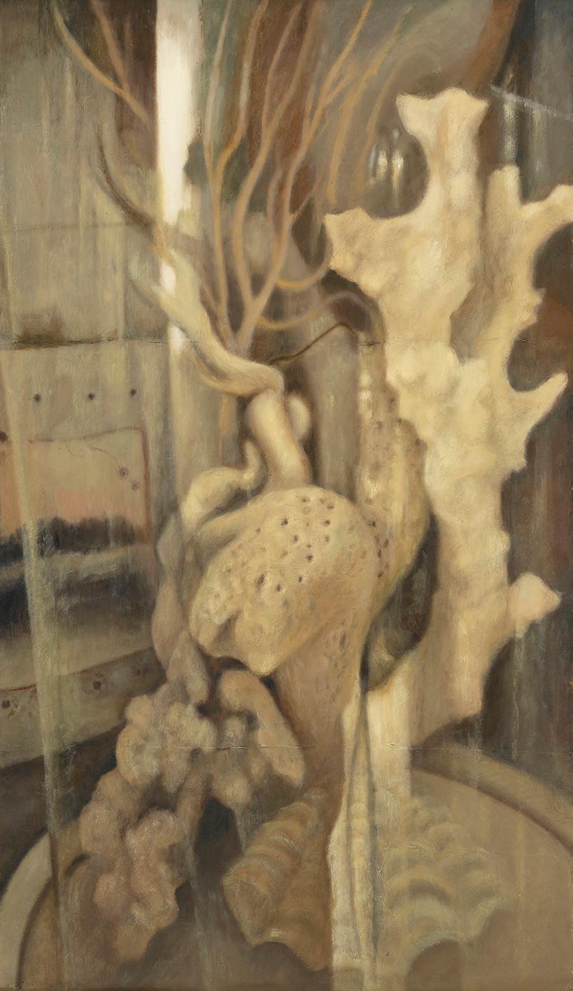 Senza titolo, 2014, olio su carta su tela, cm 120 x 70