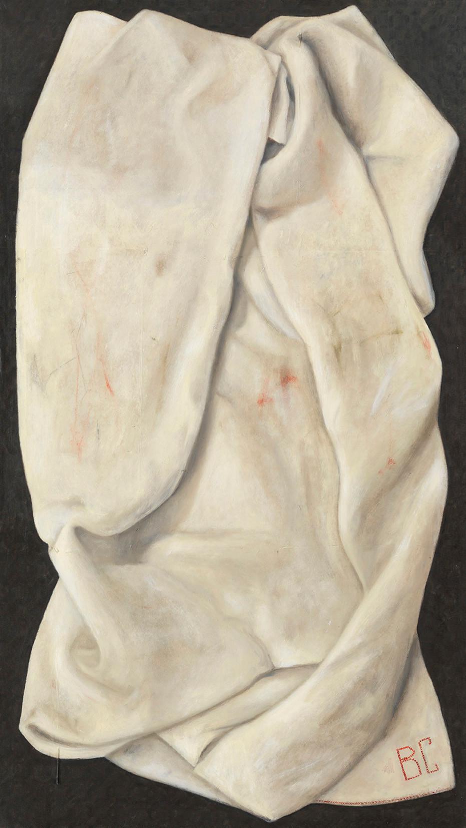 Senza titolo, 2008/2009, olio su carta su tela, cm 140 x 80