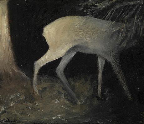 Senza titolo, 2012 olio su carta, cm 11,5 x 13,5
