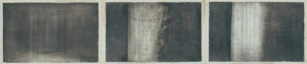 Senza titolo, 2001, calcografia e matita, cm 23 x 100