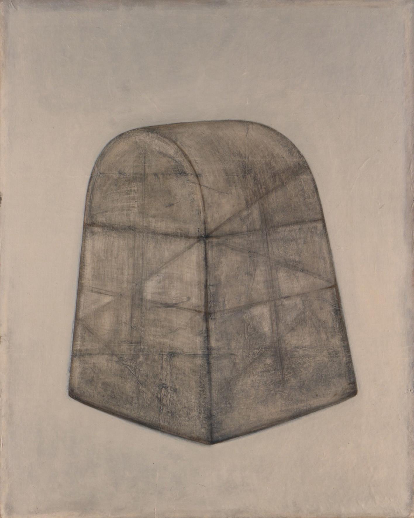 Senza titolo, 2000, olio e pastello su tela, cm 150 x 120
