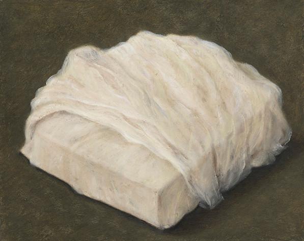 Senza titolo, 2009, olio su carta su tela, cm 40 x 50