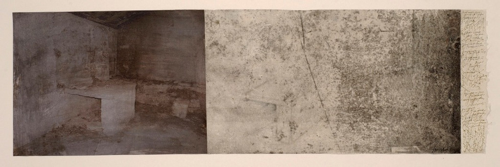 Senza titolo, 2006, tecnica mista su carta, cm 22,5 x 73