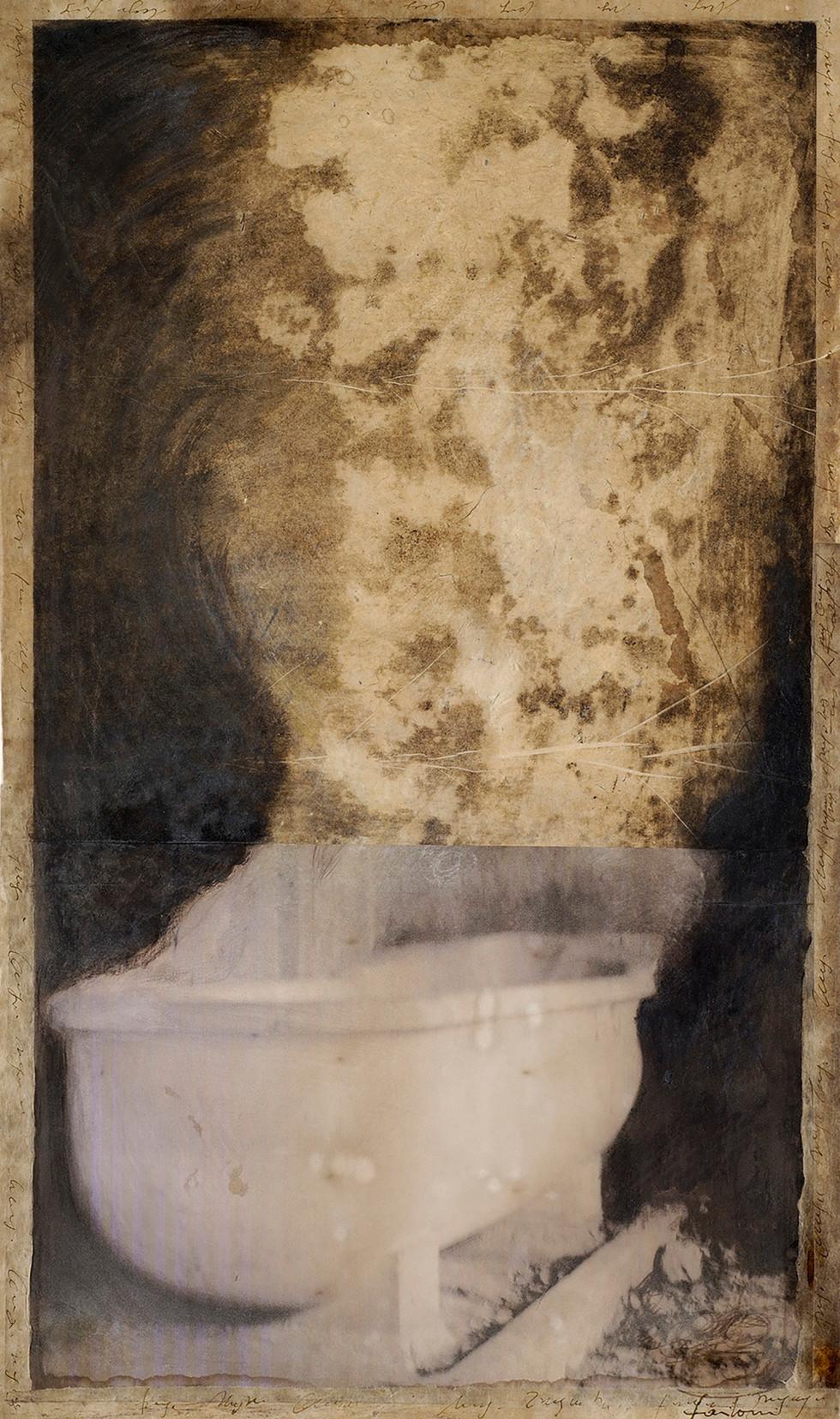 Senza titolo, 2006, tecnica mista su carta, cm 73 x 43