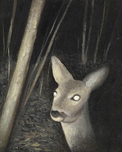 Senza titolo, 2012 olio su carta, cm 14,5 x 12