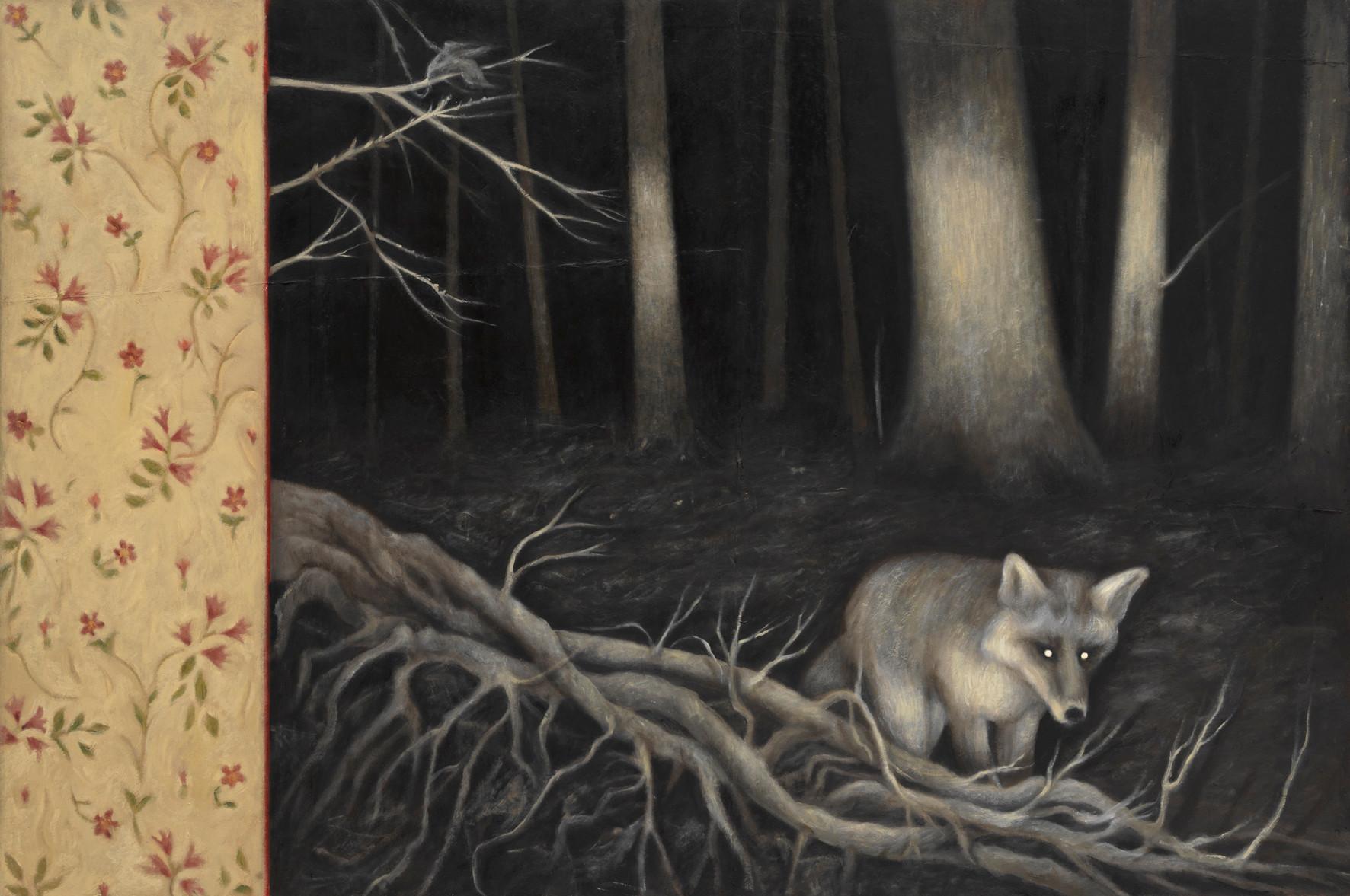 Senza titolo, 2012 olio su carta su tela, cm 100 x 150