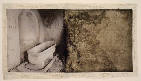 Senza titolo, 2006, tecnica mista su carta, cm 38 x 67