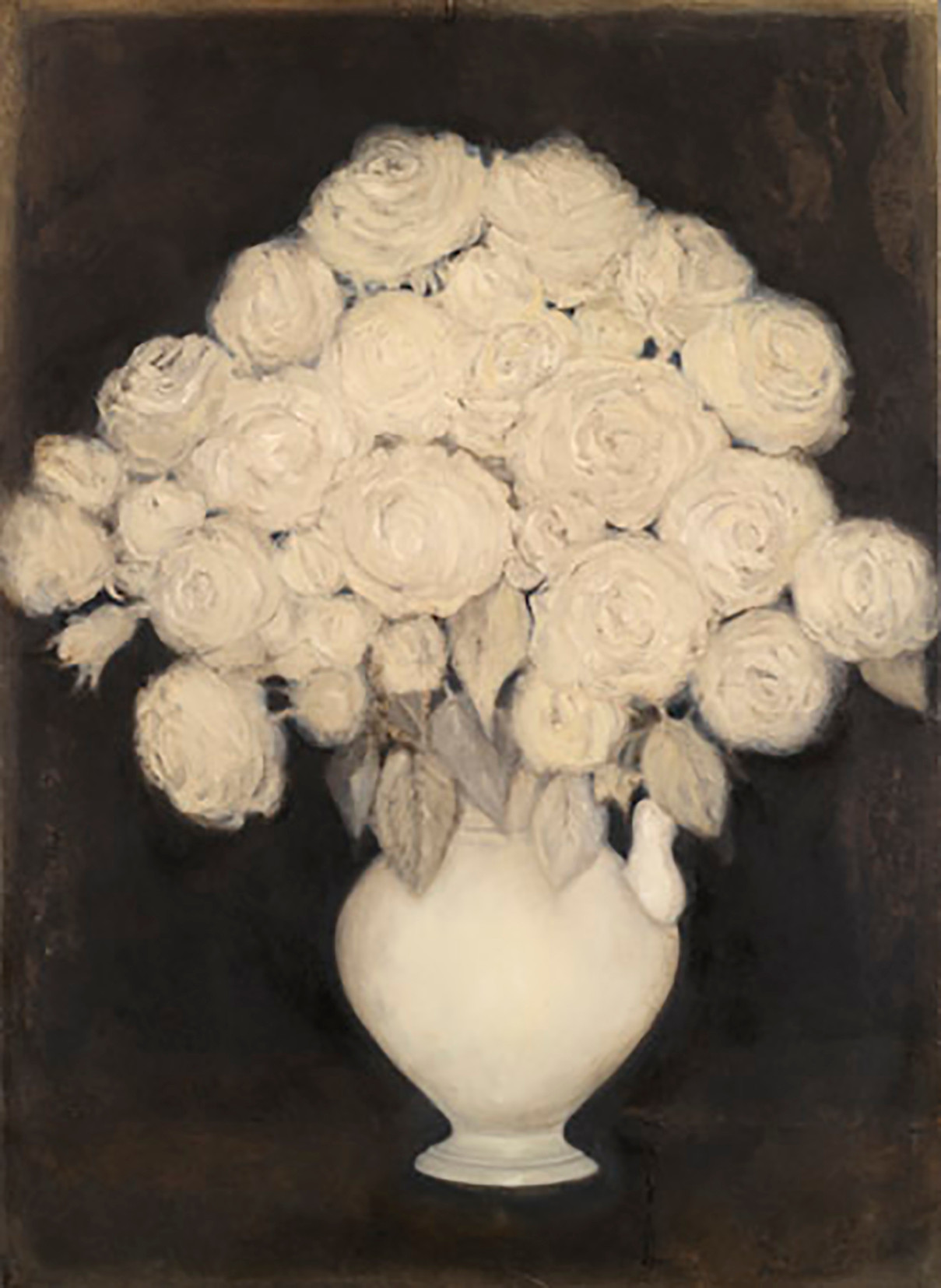 Senza titolo, 2007, olio su carta su tela, cm 140 x 100