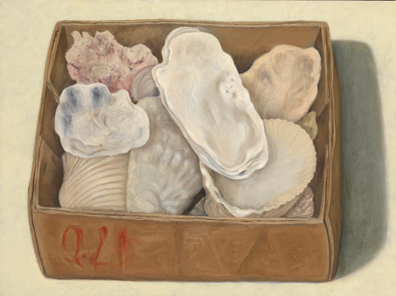 Senza titolo, 2005, olio su carta su tela, cm 88 x 118