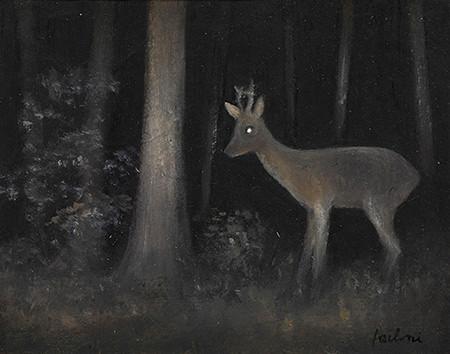 Senza titolo, 2012 olio su carta, cm 10 x 13